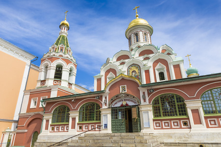 kazansky: MOSCOW, RUSSIA -JUNE 03: View on Kazansky Cathedral at June 03, 2016 in Moscow, Russia Editorial