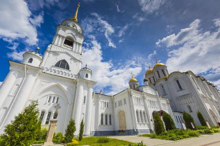 assumption: VLADIMIR - JUNE 05, 2016 :Assumption cathedral at Vladimir in summer, UNESCO World Heritage Site, Vladimir, Russia. Editorial