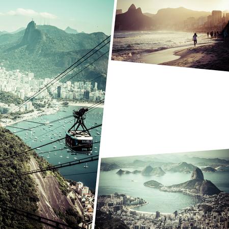 Collage of Rio de Janeiro (Brazil) images - travel background (my photos)