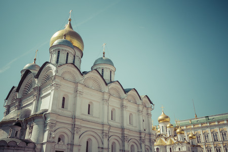 Assumption Cathedral of Moscow Kremlin, Russia. Stock Photo