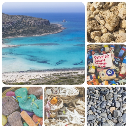 Collage of Crete (Greece) images - travel background (my photos)