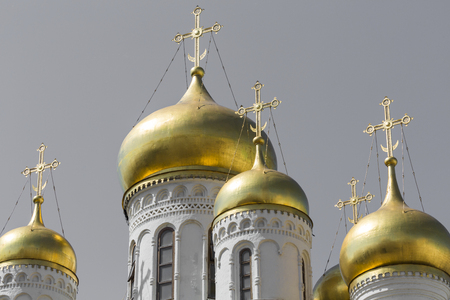 View of Famous The Annunciation Cathedral in Moscow Kremlin, Russia