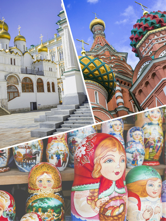 spassky: Collage of Moscow (Russia) images - travel background (my photos)