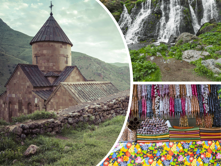 monasteri: Collage di monasteri (Armenia) immagini - sfondo di viaggio (le mie foto) Archivio Fotografico