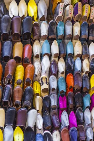 marrakesh: Colourful Moroccan slippers, Marrakesh Stock Photo