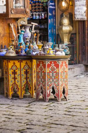souvenir traditional: Traditional souvenir shop in the medina, Morocco