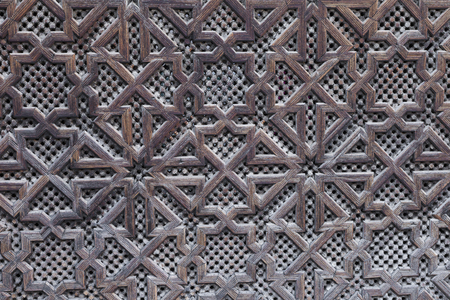 hand carved: Beautiful hand carved wooden door in Marrakech, Morocco