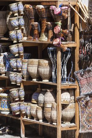 medina: Traditional souvenir shop in the medina, Morocco