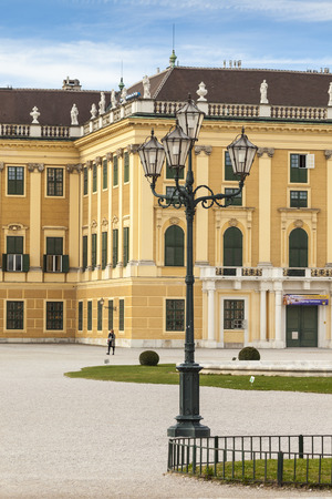 schonbrunn palace: VIENNA, AUSTRIA - JUNE 17: Schonbrunn Palace on June 17, 2016 in Vienna, Austria.