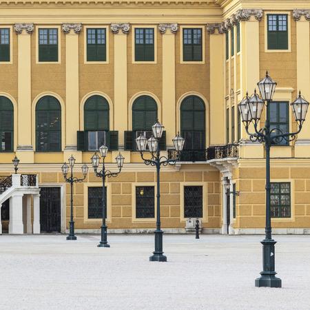 ourdoor: VIENNA, AUSTRIA - JUNE 17: Schonbrunn Palace on June 17, 2016 in Vienna, Austria.