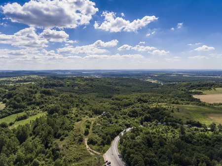 jura: Limestone rocks located on the Polish Jura. Country. South Poland Stock Photo