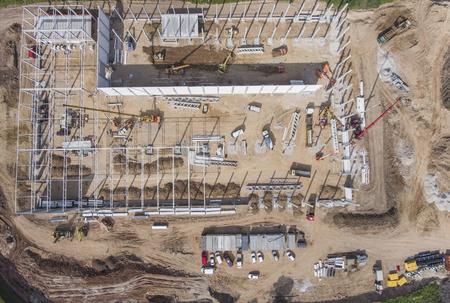 Obra de construcción disparó desde arriba. Foto de archivo