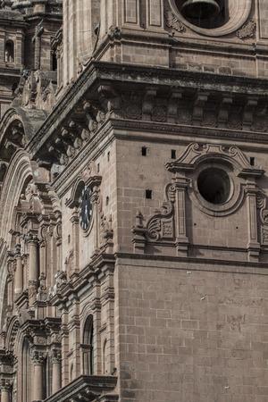 la compania: La Compania de Jesus church on Plaza de Armas square in Cuzco, Peru. Stock Photo