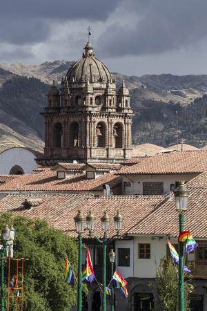 merced: La Compania de Jesus church on Plaza de Armas square in Cuzco, Peru. Stock Photo