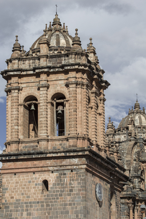 plaza de armas: La Compania de Jesus church on Plaza de Armas square in Cuzco, Peru. Stock Photo