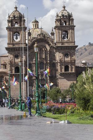 CUZCO, PERU-MARCH 08, 2016: View of Plaza De Armas in Cusco, Peru Editorial