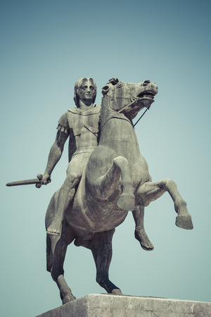 alexandros: Statue of Alexander the Great in Thessaloniki, Makedonia, Greece Stock Photo