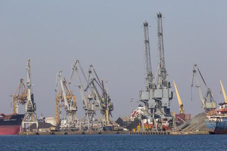 thessaloniki: THESSALONIKI - GREECE - SEPTEMBER 23, 2016: The port inThessaloniki city, Greece Editorial