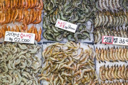 fischerei: Noryangjin Fisheries Wholesale Market , Expansive wholesale & retail market with stalls offering hundreds of types of fish & seafood. Lizenzfreie Bilder