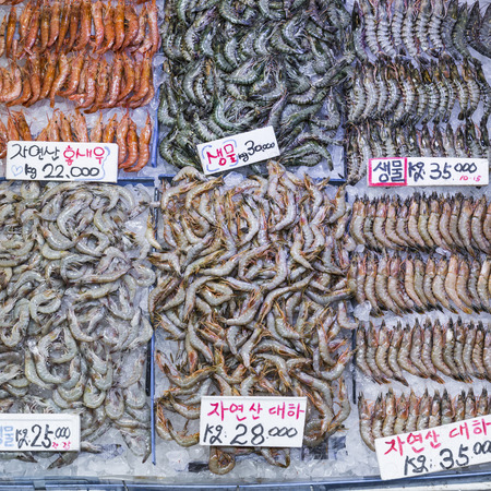 fischerei: Noryangjin Fischerei Großmarkt, Expansive Groß-und Einzelhandel Markt mit Ständen Hunderte von Arten von Fisch und Meeresfrüchten.