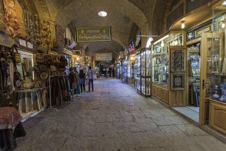 iranian: ISFAHAN, IRAN - OCTOBER 06, 2016: Traditional iranian market (Bazaar)