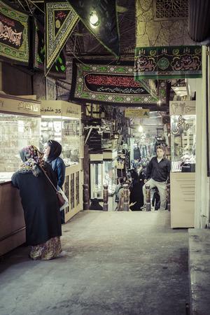 bazaar: TEHERAN, IRAN - OCTOBER 03, 2016: People in central bazaar. Grand Bazaar in Tehran is the biggest bazaar in Iran. Editorial