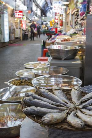 tradition: SEOUL - OCTOBER 23, 2016: Tongin Wholesale Market in Seoul, South Korea.