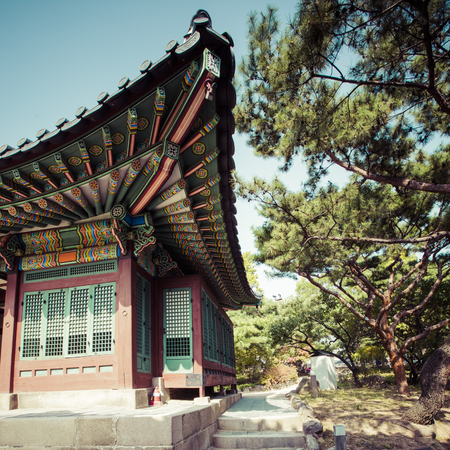 SEOUL - OCTOBER 21, 2016: Deoksugung Palace in Seoul, South Korea. It is also known as Gyeongun-gung, or Deoksu Palace Editorial