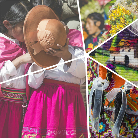 tiredness: Collage of Peru traditional culture images - travel background (my photos)