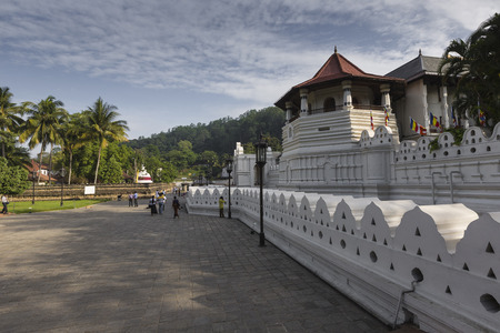 KANDY, SRI LANKA - DECEMBER 01:, 2016: Temple Of The Sacred Tooth Relic, located in the Royal Palace Complex Of The Former Kingdom Of Kandy, Sri Lanka