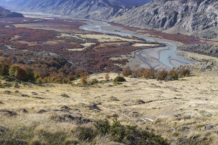 chalten: Autumn in Fitz Roy Moutain, Patagonia, El Chalten - Argentina