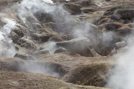 Geyser (geothermal area) Sol de Manana in Eduardo Avaroa National Reserve - Altiplano, Bolivia, South America Stock Photo