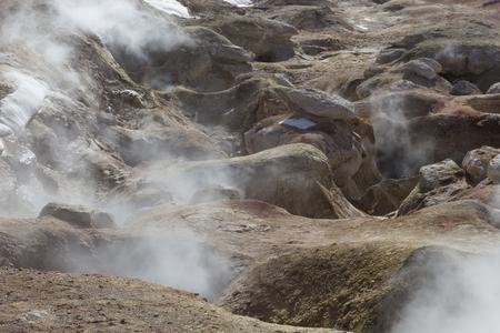avaroa: Geyser (geothermal area) Sol de Manana in Eduardo Avaroa National Reserve - Altiplano, Bolivia, South America Stock Photo