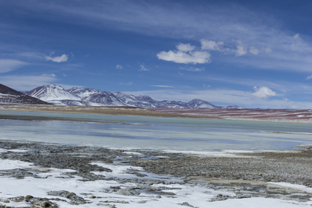 avaroa: Atacama desert, Bolivia with majestic colored mountains and blue sky in Eduardo Avaroa Andean Fauna National Reserve, Bolivia Stock Photo