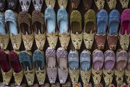 indian creek: Shoes in arabian style, market of Dubai