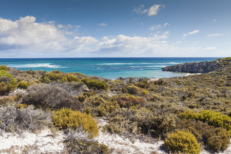 perth: Scenic view over one of the beaches of Rottnest island, Australia.