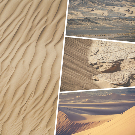berber: Collage of typical places in Morocco - my photos Stock Photo