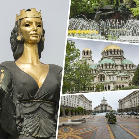 Collage of Most Beautiful and Breathtaking Places in Sofia - Bulgaria - my photos