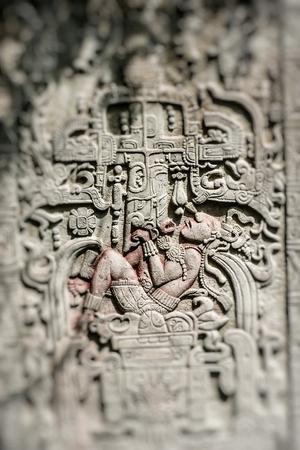 メキシコの寺院の彫刻芸術