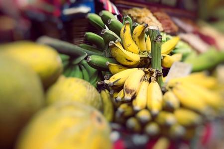 anona: Fresh exotic fruits in Mercado Dos Lavradores. Funchal, Madeira   Stock Photo
