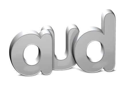 rub: 3D Currency AUD over white background.