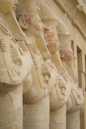 Ancient ruins of Queen Hatshepsut Temple, Luxor, Egypt Stock Photo