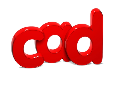 rub: 3D Currency CAD over white background.