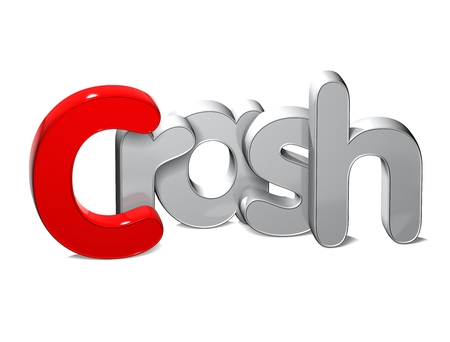 3D Word Crash over white background. Stock Photo
