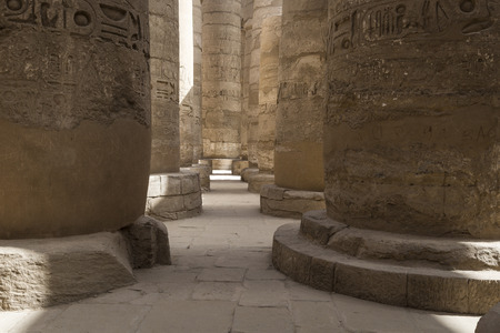 thebes: Ancient ruins of Karnak temple in Luxor. Egypt