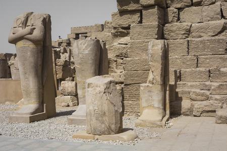 obelisk stone: Ancient ruins of Karnak temple in Luxor. Egypt