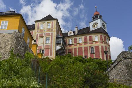 castle district: JAVORNIK - CZECH REPUBLIC - JUNE 07, 2017: Jansky Hill (Jansky Vrch) Castle in Javornik Town, Olomouc Region, Czech Republic
