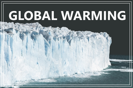 Word Global Warming. Glacier in Argentina. Zdjęcie Seryjne