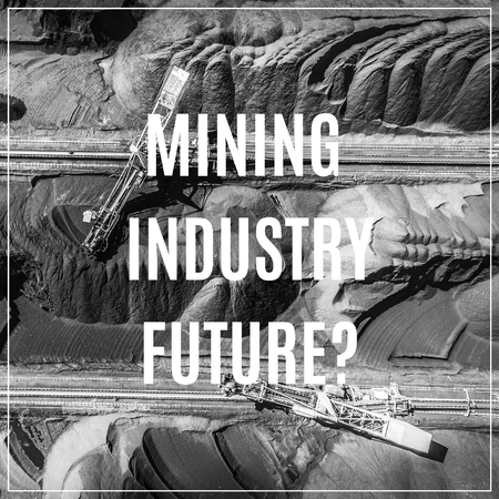Black coal deposits. Word Mining Industry Future.