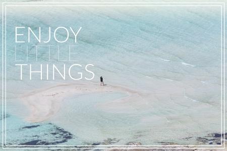 Enjoy Little Things. Balos bay at Crete island in Greece.